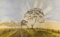 The Tree and The Light - Watercolor on Paper - 28 x 44 cm