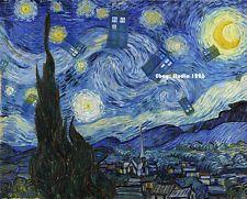 Doctor Who TARDIS Parody Print Vincent van Gogh STARRY NIGHT Dalek
