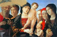 Andrea Mantegna. Virgin and Child with Saints c. 1500 Tempera on wood, 62 x 88 cm Galleria Sabauda, Turin