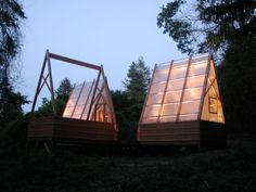 The huts are off the grid, but may be updated with solar power (Photo: Moskow Linn...