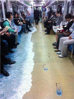 Grote vloerstickers metro