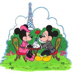 Disney Day Coloring Contest Day 3 Mickey x Minnie by Puja723.deviantart.com
