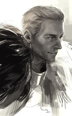 Cullen is really hard to draw like omg One week to go!!!! - by Minttu