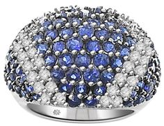 5.20 Carat Sapphire & Diamond Dome Style Ring - Fashion Deals