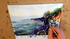 "Watercolor paintings Landscape Demo ""Rainy beach"" by Mikko Tyllinen x #watercolor jd"