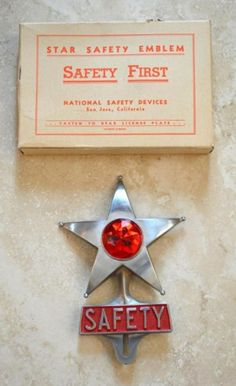 VINTAGE NEW SAFETY STAR OEM LICENSE PLATE TOPPER. L@@@@@@K!!!!!! | eBay Vintage Auto, Vintage Cars, Auto Accessories, Badge, Safety, Plate, Christmas Ornaments, Stars, Holiday Decor