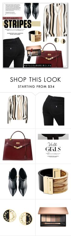 """""""One Direction: Striped Shirts"""" by aidasusisilva ❤ liked on Polyvore featuring Dorothy Perkins, STELLA McCARTNEY, Hermès, COII, Kim Kwang, Michael Kors, Chanel, MAC Cosmetics and stripes"""