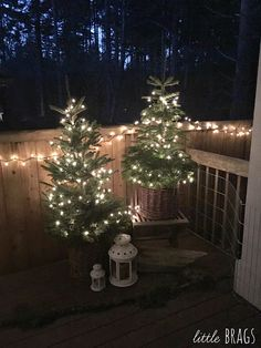 Little Brags: Nature Inspired Outdoor Christmas Decorations from Little Brags