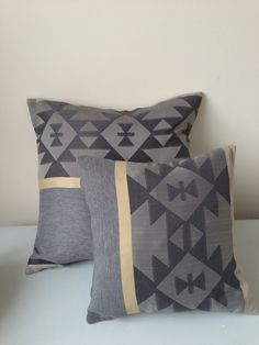 """Aztec Pillow Cover - Fall Home Decor - Couch Pillow - Decorative Pillow Cover - Bedroom Pillow - Designer Fabric - 16"""" x 16"""""""