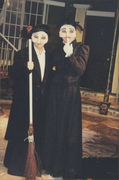 Author #LisaVanAllen talks #Halloween!  My bff from college and I are all dolled up for a spooky Halloween-time play called Ghost Sonata. (I'm on the right.) It was so much fun, and we still talk about that play to this day.  My favorite book for Halloween is a collection of poems and stories from Edgar Allan Poe—classic, spooky, brilliant! Plus, the cover art is wonderfully creepy so I like to put it out on display in October. Happy haunting!