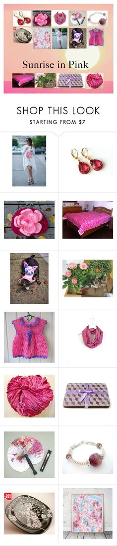 """""""Sunrise in Pink: Handmade & Vintage Gifts"""" by paulinemcewen ❤ liked on Polyvore featuring rustic, vintage and country"""