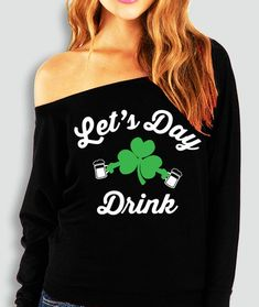 Lets Get Lucky Navy Adult Sweatshirt Patricks Day Old Glory St