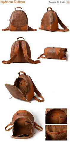 SALE STARTED Leather Backpack Large Sporty Female Or by KiliDesign