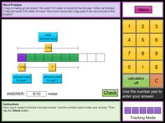 SMART BOARD - Sites like Thinking Blocks should be placed front and center on your school's list of Internet resources that work great on your SMART Board Interactive Whiteboard. This site was developed by Colleen King as a way to model Mathematical problems related to Addition,  Subtraction, Multiplication,  Division,  Fractions,  and Ratios.