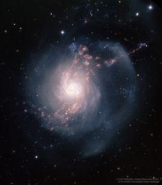 NGC 3310: una galaxia espiral de estallido de estrellas