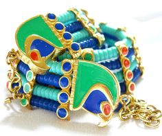 Egyptian Revival Necklace Signed Hattie Carnegie Rare 1960s on Etsy, £641.63