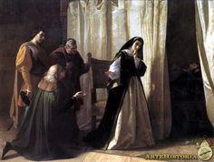 Lorenzo Vallés, Demencia de doña Juana de Castilla.