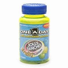 One-a-day kids multivitamin gummies with jolly rancher fruity flavors - 60 ea