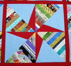 I finished the double pinwheel string quilt top this week!  Writing that sentence reminds me of the scene in the movie The Jerk  when Steve...