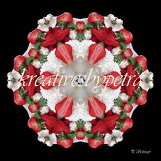 "Mandala ""Erdbeertorte""  kreativesbypetra Mandala Art, Adobe Photoshop, Christmas Wreaths, Christmas Tree, Petra, Holiday Decor, Canon, Home Decor, Mandalas"
