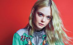 Download wallpapers Hollywood, Elle Fanning, 2018, american actress, portrait, blonde, beauty