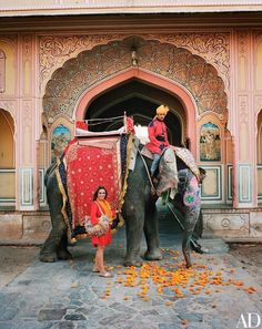 Oudejans joins Rani, an Indian elephant, and mahout Dinesh Depan | archdigest.com