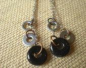Industrial Earrings: Hardware Jewelry - Washer Jewelry - Industrial Jewelry - Unique Jewelry - CIJ - Christmasinjuly