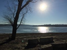 The early morning winter sun reflects on the Mississippi River at the confluence with the Kaskaskia River. Photo courtesy of Christopher Martin. Randolph County, Clinton County, Catholic Mass, Immaculate Conception, Winter Sun, Early Morning, Mississippi, Scenery, Tours