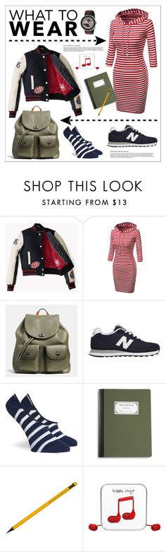 """""""Study Buddy"""" by grrr8style ❤ liked on Polyvore featuring Coach, New Balance, Richer Poorer, Happy Plugs and Gucci"""