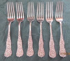 Rococo by Dominick /& Haff Sterling Silver Dinner Fork 7 1//2/""