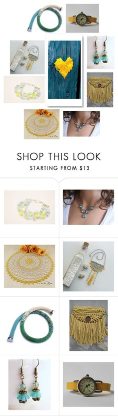 """""""yellow and blue gifts"""" by tatianagavrilova ❤ liked on Polyvore featuring Giallo"""