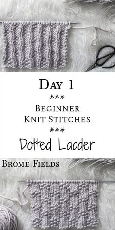 Ladder Knit Stitch : Day 1 of the 21 Days of Beginner Knit Stitches : Bro. Dotted Ladder Knit Stitch : Day 1 of the 21 Days of Beginner Knit Stitches : Bro., Dotted Ladder Knit Stitch : Day 1 of the 21 Days of Beginner Knit Stitches : Bro. Knitting Terms, Beginner Knitting Patterns, Knitting Stiches, Knitting Blogs, Knitting For Beginners, Knitting Needles, Free Knitting, Simple Knitting, Knitting Ideas