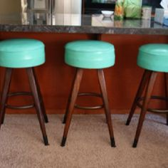 SOLD. Mid Century Swivel Bar Stools found a lovely new home in San Diego. #MAKECOLLECTIVES