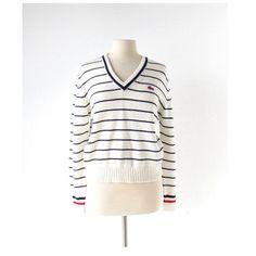 Izod Lacoste Sweater / Boyfriend Sweater / by SmallEarthVintage