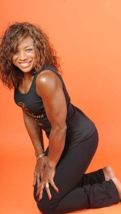 I don't know her name however I will find out. She's a 70-year old fitness guru! She's such an inspiration.