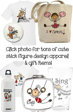 Love cute stick figures? Tons of stick figure apparel and gift items by clicking on photo!