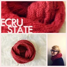#Infinity scarf #red #knitting