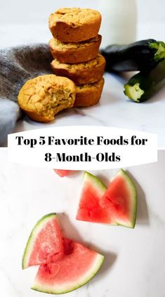 Top 5 Favorite Foods for // 8 month old food // best foods for 8 mo… – rezeptebaby 8 Month Old Baby Food, Baby Food 8 Months, Baby Month By Month, Baby Snacks, Baby Meals, Homemade Muffins, Homemade Baby Foods, Sweet Potato Recipes, Baby Food Recipes