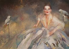 Joanna Zjawinska, polish painter, was born in Poland where she began to paint at the early age of six. She earned her B.A. degree in 1972 from the School of Architecture in Warsaw. To follow her own dream of being an artist, Joanna then studied at the Warsaw Academy of Fine Arts where she perfected her unique style of oil and watercolor painting. Her world is feminine and seductive.
