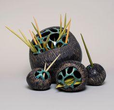 Jenni Ward ceramic sculpture | seed pod series