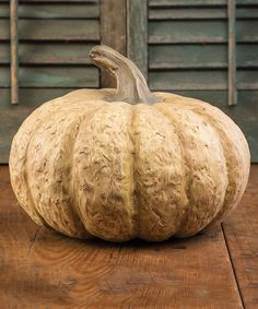Look at this Large White Pumpkin Décor on #zulily today!