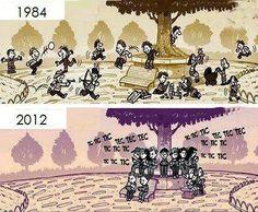 Vooruitgang vanop de speelplaats van de school... schitterend:::))) Progres seen from the playground of a school:::)))