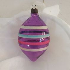 Your place to buy and sell all things handmade Purple Christmas, Old Fashioned Christmas, Christmas Past, Retro Christmas, Vintage Holiday, Christmas Stuff, Antique Christmas Ornaments, Vintage Ornaments, Christmas Tree Toppers