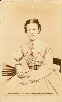 Forgotten Faces and Long Ago Places: Fashionable Friday - Young Civil War Era Woman from Milwaukee, WI