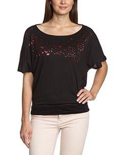 Desigual Oquel - T-shirt - Col bateau - Manches courtes - Femme - Noir (2000) - FR: 38 (Taille fabricant: S) Desigual http://www.amazon.fr/dp/B00JF2Y3Q6/ref=cm_sw_r_pi_dp_RmU8vb13BJ9RX