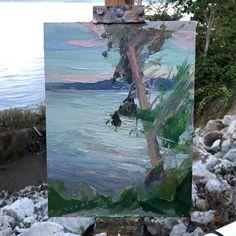 Walkers Hook at dusk Dusk, Beautiful Places, Paintings, World, Art, Art Background, Paint, Painting Art, Kunst