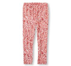 Food printed leggings: Candy Canes from Children's Shop. Perfect for Christmas.