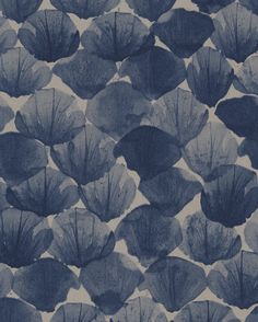 Abstract floral wallpaper - Poppy Deep from Mimou.