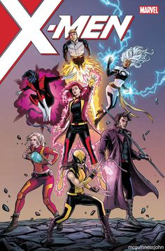 Mutant and Proud — allnewmutants: X-Men by mcguinnessjohn Marvel Comics, Marvel Xmen, Marvel Comic Universe, Disney Marvel, Comic Book Covers, Comic Books Art, Comic Art, X Men, Jack Kirby