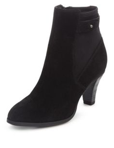 Suede Elasticated Panel Ankle Boots with Insolia® | M&S